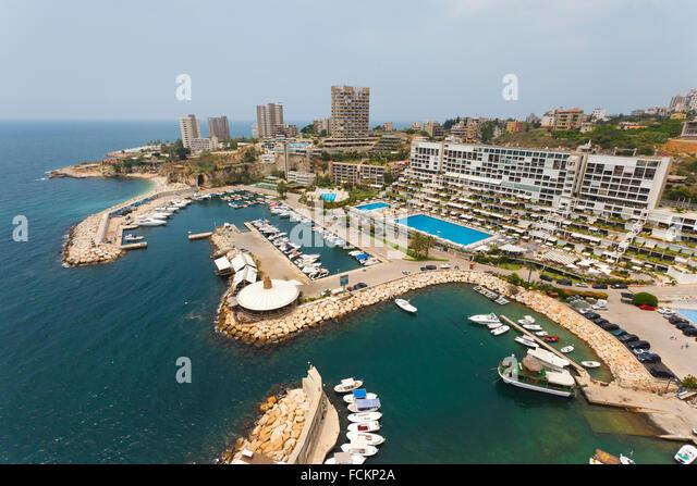 Aerial, Jounieh, Beirut, Lebanon - Stock Image