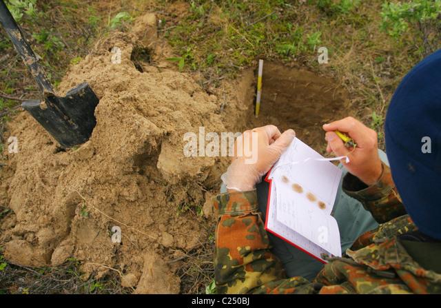 Soil cross section stock photos soil cross section stock for Soil scientist