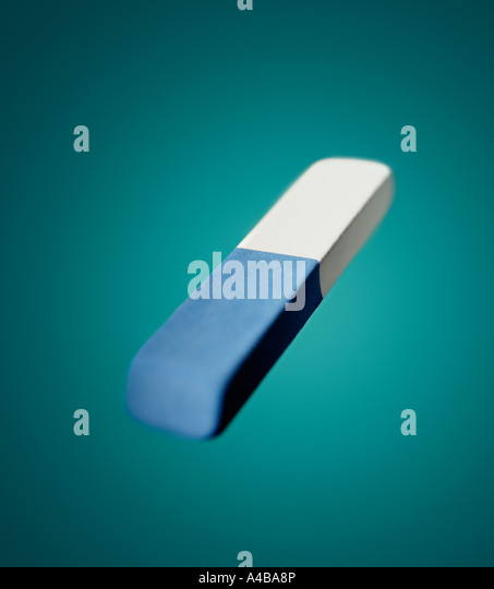 An eraser shot with split focus - Stock-Bilder