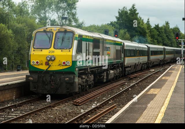 Iarnród Éireann's Intercity to Dublin - Stock-Bilder