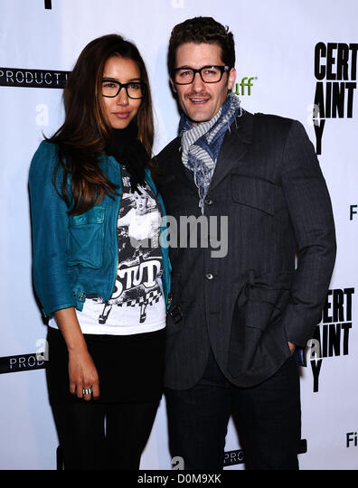 Nov. 26, 2012 - Beverly Hills, California, U.S. - Matthew Morrison & Date arrives for the premiere of the film - Stock Image