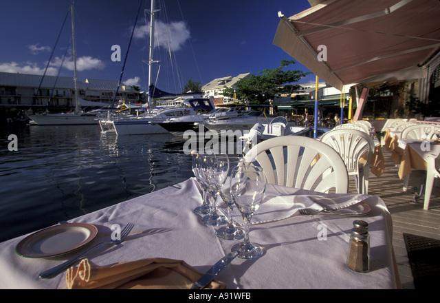 French caribbean cafe stock photos french caribbean cafe - Marina port la royale marigot st martin ...