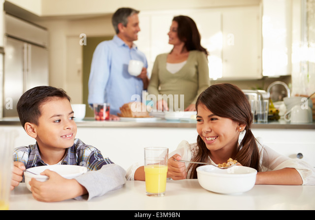 Family Breakfast Cereal Stock Photos & Family Breakfast ...