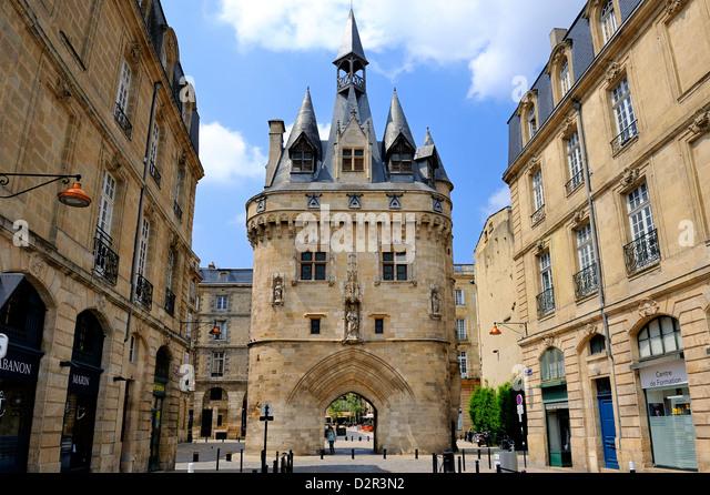 Porte Cailhau, Bordeaux, UNESCO World Heritage Site, Gironde, Aquitaine, France, Europe - Stock Image