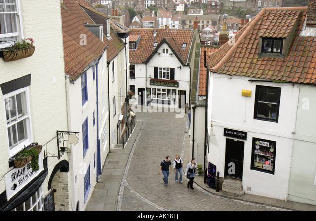 UK, England, Whitby, Church Street, - Stock Image