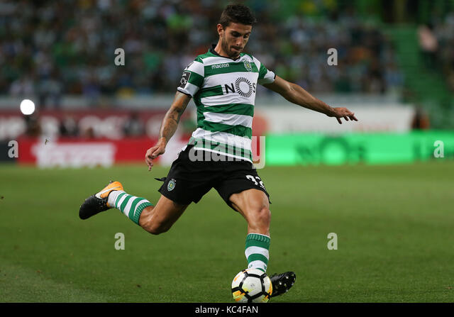 Lisbon, Portugal. 01st Oct, 2017. Sporting«s defender Cristiano Piccini from Italy during Premier League 2017/18 - Stock Image