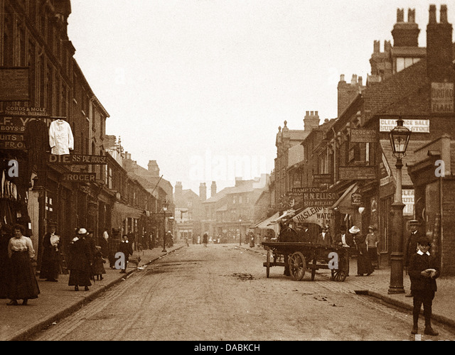 West Bromwich Bull Street early 1900s - Stock Image