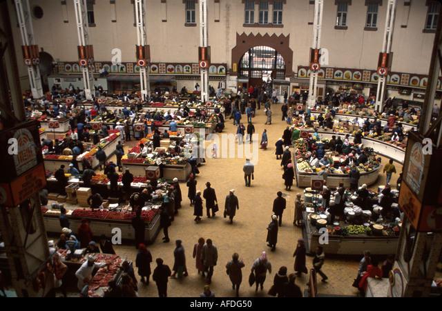 Ukraine Kiev Bessarabka Covered Market produce - Stock Image