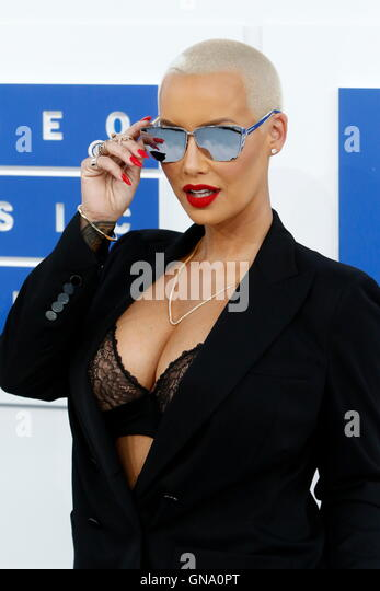New York, Us. 29th Aug, 2016. Amber Rose attends the MTV Video Music Awards, VMAs, at Madison Square Garden in New - Stock-Bilder