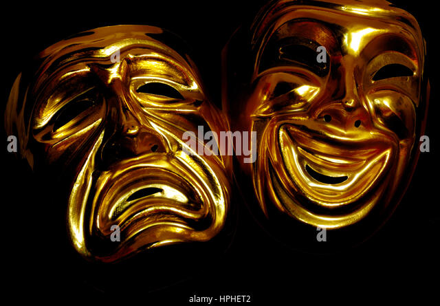 mask of tragedy and comedy - Stock Image