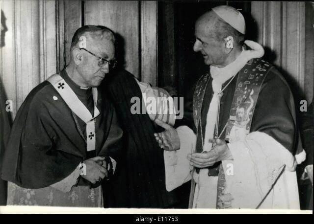 Mar. 03, 1976 - The new Primate of Hungary Mons. Laszlo Lekai, now in Rome, received by the Pope Paul VI the sacred - Stock Image