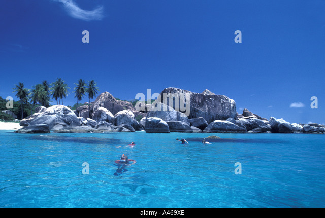 British Virgin Islands The Baths Virgin Gorda - Stock Image