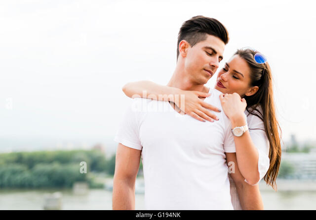 Young and beautiful couple in love bonding with each other - Stock-Bilder