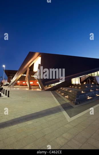 The Albany Entertainment Centre at dusk. Albany, Western Australia, Australia - Stock Image