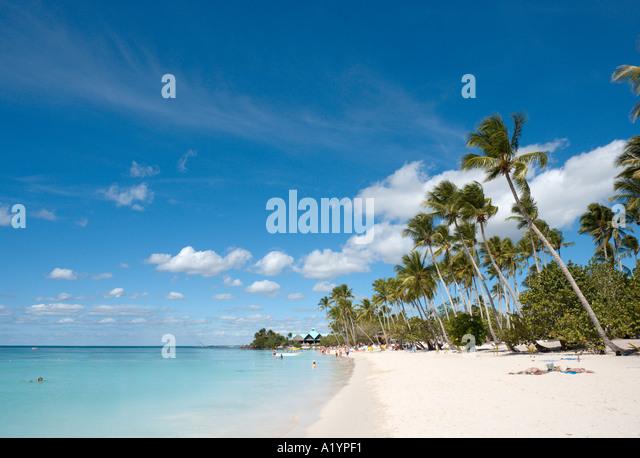 Beach at Bayahibe, South Coast, Dominican Republic, Caribbean - Stock-Bilder