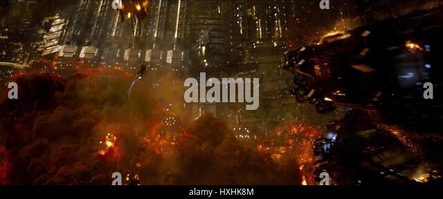 EXPLOSION SCENE JUPITER ASCENDING (2015) - Stock Image