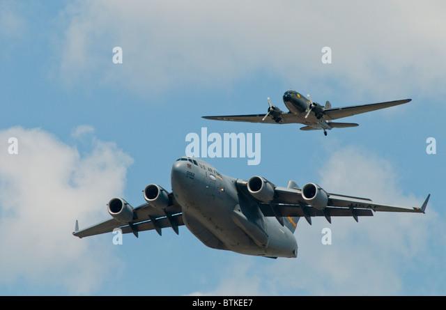 C-47, C-17 aircraft. - Stock Image