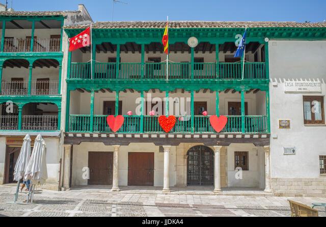 Chinchon, Spain – Jun 2017: Town Hall building at main square of Chinchon, Madrid - Stock Image