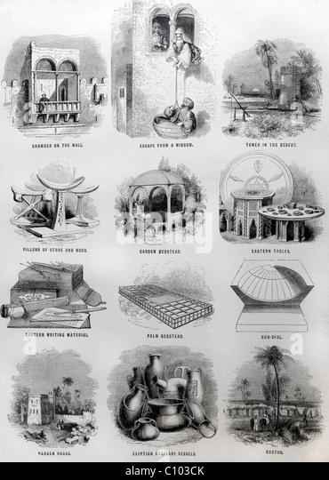 Bible Illustrations of Jewish Antiquities - Stock Image