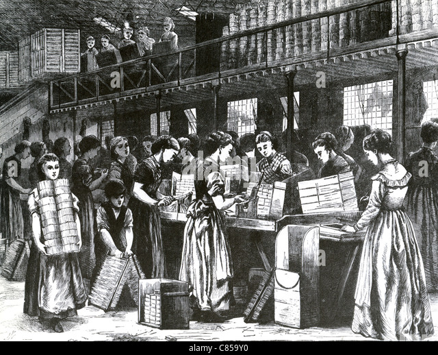 BRYANT AND MAY MATCH WORKERS about 1885 - Stock-Bilder