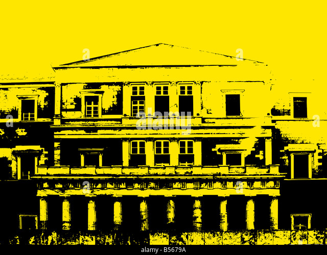 grunge building background - Stock Image