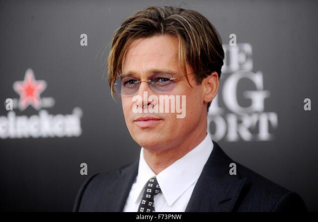 New York City. 23rd Nov, 2015. Brad Pitt attends 'The Big Short' New York Premiere at Ziegfeld Theater on - Stock Image
