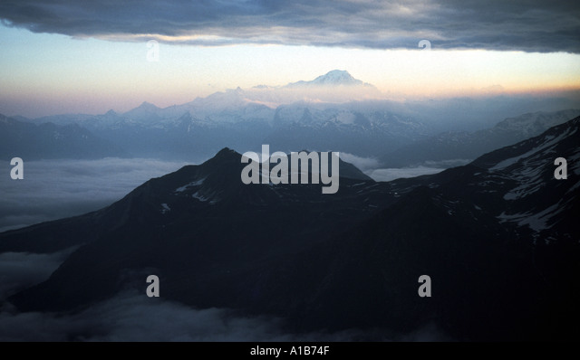 Mont Blanc from the summit of Pt. des Pichères, French Alps, France - Stock Image