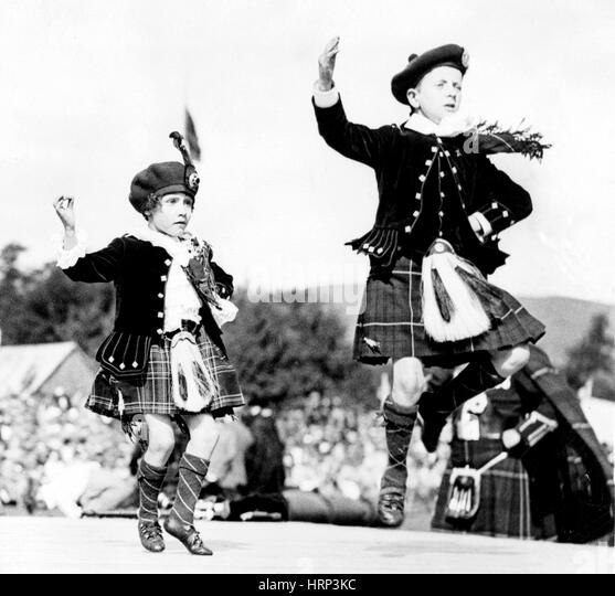 Scottish Country Dancers, 20th Century - Stock Image