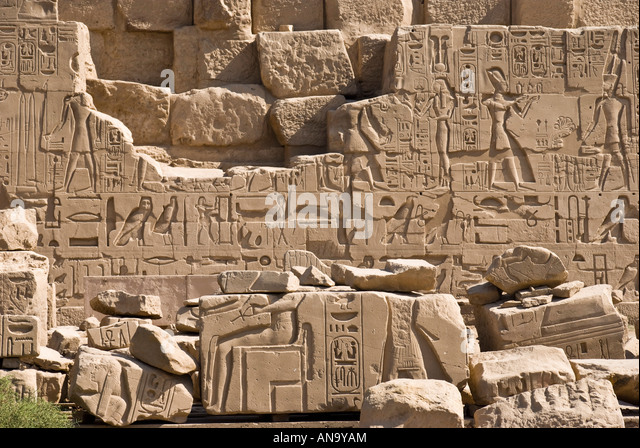 Hieroglyphics alphabet stock photos