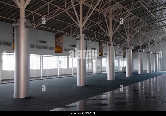 Nicaragua Managua Augusto C. Sandino Aeropuerto Internacional International Airport MGA remodeling empty unused - Stock Image