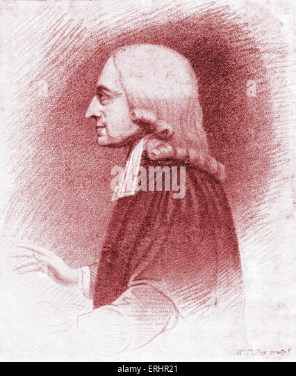 John Wesley - Anglican minister and Christian theologian, an early leader in the Methodist movement: 28 June 1703 - Stock Image