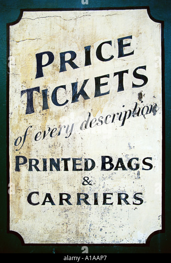 Old-fashioned sign - Stock Image