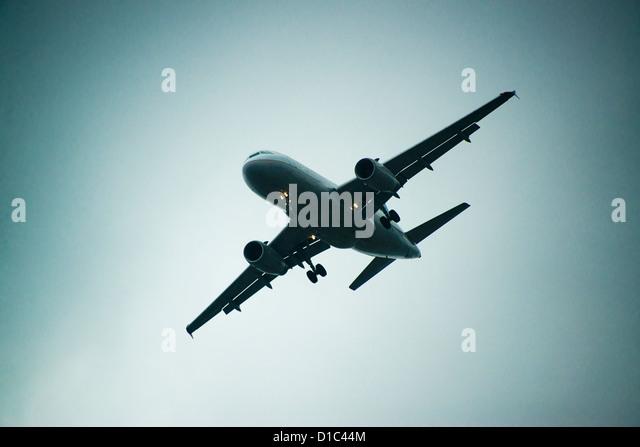 Jet airplane in flight. - Stock Image