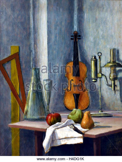 Still Life with Violin 1932 Gigiotti Zanini 1893-1962  Italy Italian - Stock Image