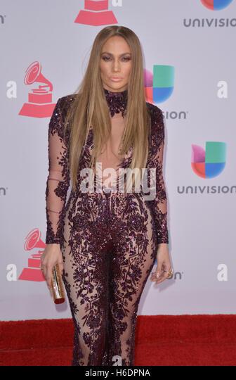Las Vegas, Nevada, USA. 17th Nov, 2016. Singer Jennifer Lopez attends the 17th Annual Latin Grammy Awards on November - Stock Image