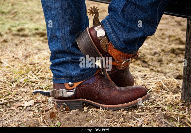 cowboy boots spurs stock photos cowboy boots spurs stock