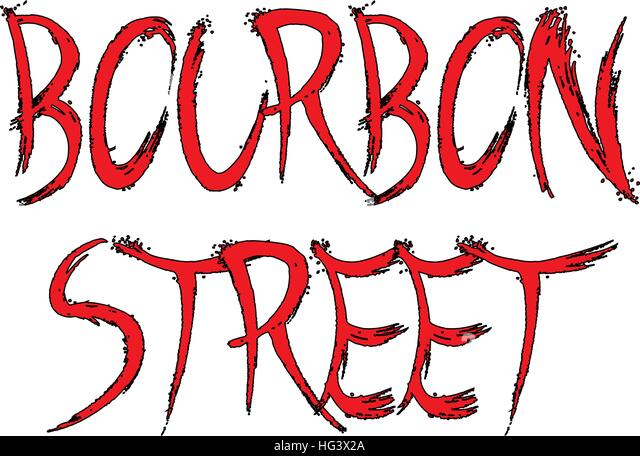 Bourbon Street sign - Stock Image