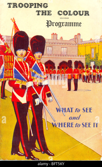 Trooping the Colour Programme 1950 - Stock Image