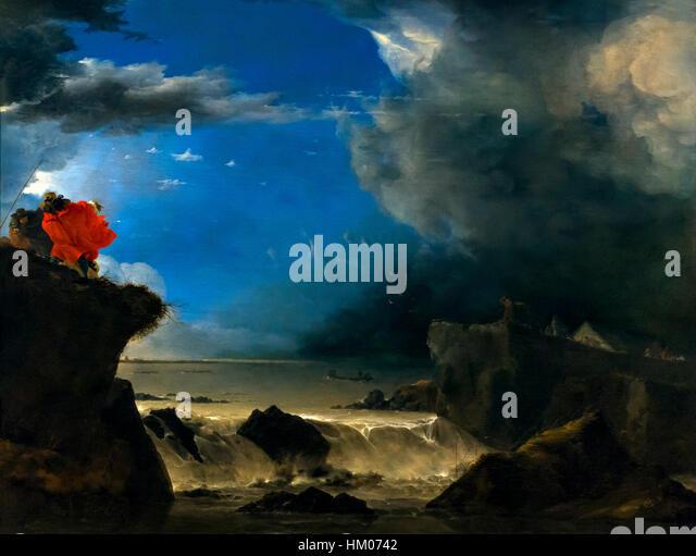 The Breach of the Saint Anthony's Dyke near Amsterdam, by Jan Asselijn, 1651, Rijksmuseum, Amsterdam, Netherlands, - Stock Image