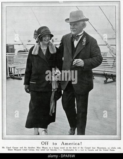 LLOYD GEORGE & DAUGHTER - Stock Image