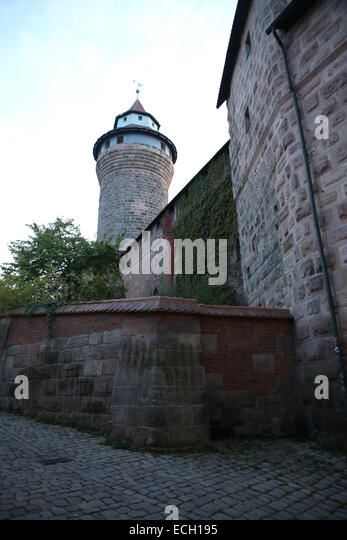 nuremberg castle tower germany travel landmark - Stock-Bilder