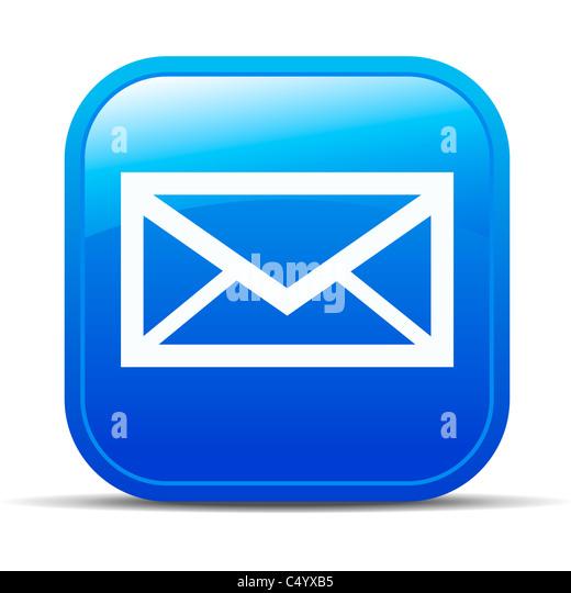 e-mail Internet button Icon - Stock Image