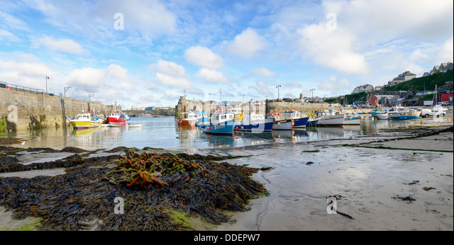 Newquay harbour in Cornwall - Stock Image