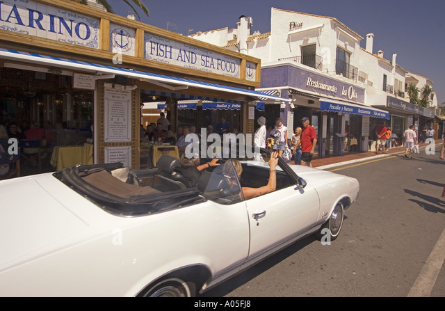 Spain Puerto Banus Marbella Andalucia Cabrio - Stock Image