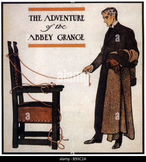 SHERLOCK HOLMES Professor Moriarty as drawn by Sidney Paget - Stock Image
