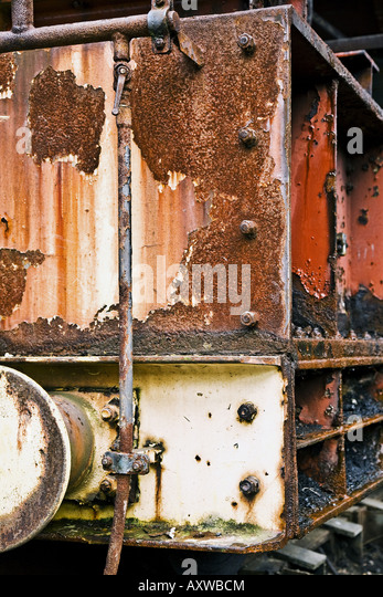 corroded coal lorry at the coking plant Zollverein, Germany, North Rhine-Westphalia, Ruhr Area, Essen-Katernberg - Stock Image