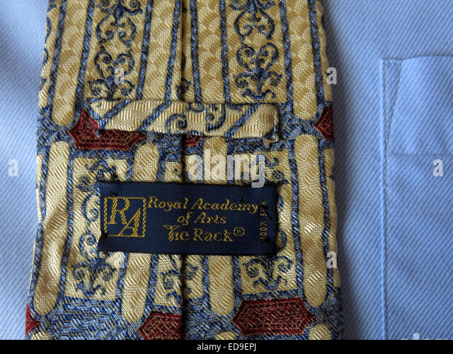 Interesting Tierack Royal Academy style, male neckware in silk - Stock Image