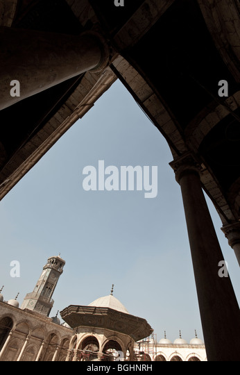 The Mosque of Mohamed Ali in the Saladin Citadel of Cairo, Egypt, Africa - Stock Image