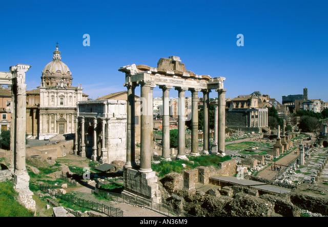 Forum / Roman Ruins, Rome, Italy - Stock Image