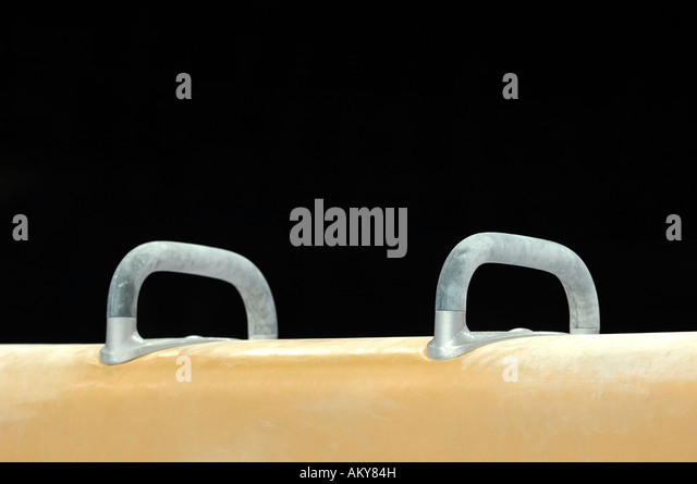 Artistic Gymnastics pommel horse - Stock Image